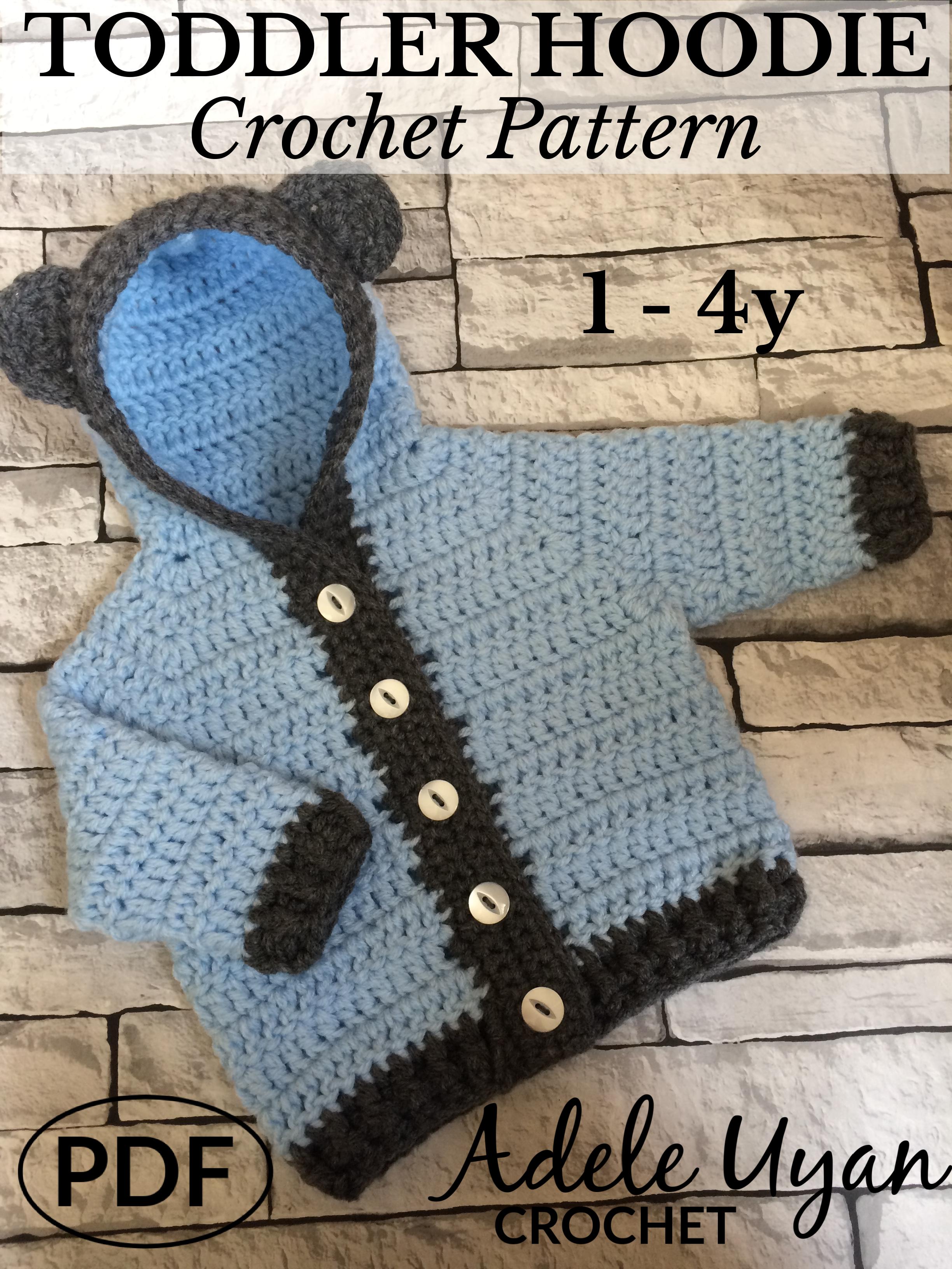Toddler Hoodie Crochet Pattern Adele Uyan Crochet